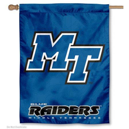 college flags and banners co. mtsu blue raiders house flag