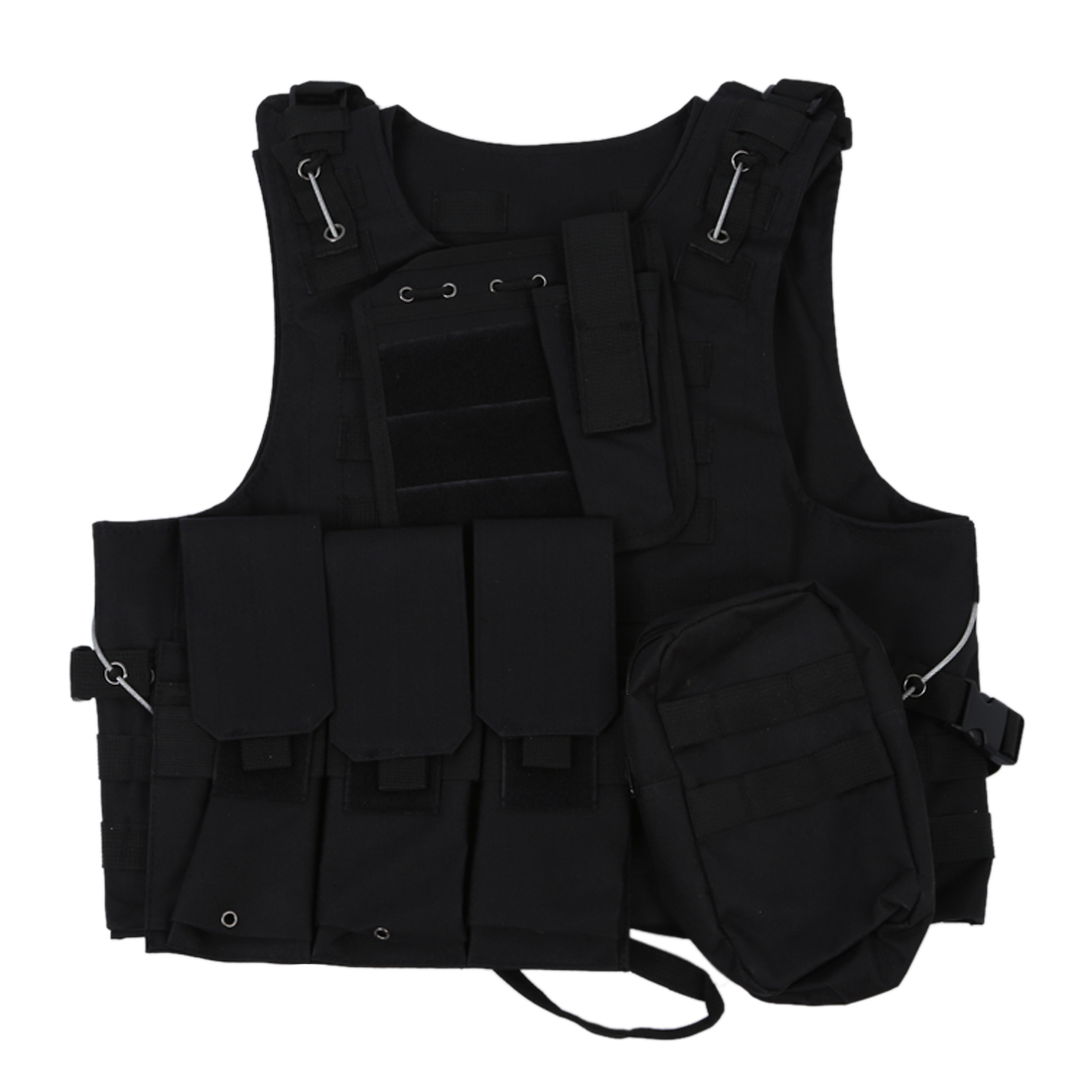THZY Vest Nylon Jacket Black MOLLE Combat Airsoft Paintball by THZY