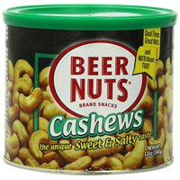 BEER NUTS Cashews Can