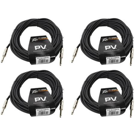 (4) Peavey PV 50' Foot 14-Gauge 1/4