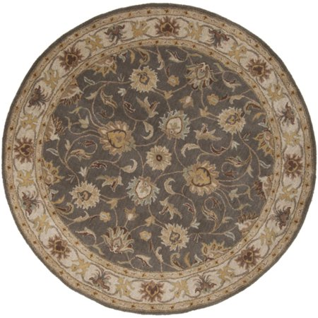 4 Augustus Heather Gray And Brown Taupe Hand Tufted Round