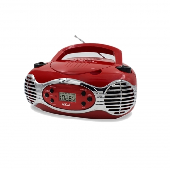 Retro CD Boombox FM PLL Radio-Red