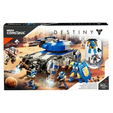 Mega Construx Destiny Goliath Tank Strike with 4-Action Figures