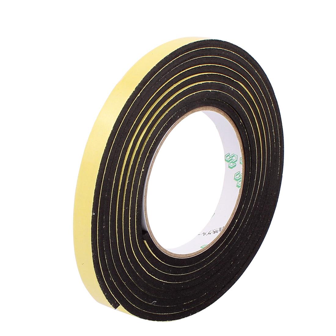 Black EVA 1.2CM Wide 3Meters Long 4MM Thick Single Sided Shockproof Sponge Tape
