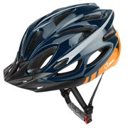 JBM Adult Cycling Bike Helmet Specialized for Men Women Safety Protection CPSC Certified (18 Colors) Black/Red/Silver Adjustable Lightweight Helmet with Reflective Stripe and Removal (Blue&Orange)