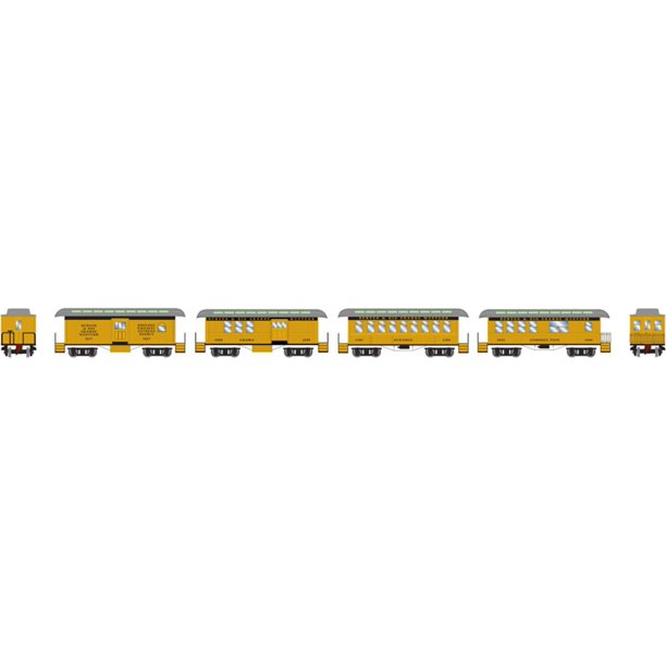 Athearn HO Scale 34' Old Time Overton Passenger Cars Rio ...