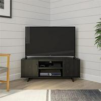 """Ameriwood Home Southlander Corner TV Stand for TVs up to 50"""" in Black Oak"""