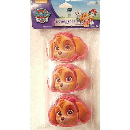 Paw Patrol Skye Figural Egg Containers Package of 3 Easter Party Treat Birthday Party, Set of Three (3) Nickelodeon Paw Patrol SKYE Small Containers By Nick Paw Patrol From USA](Easter Birthday Party)