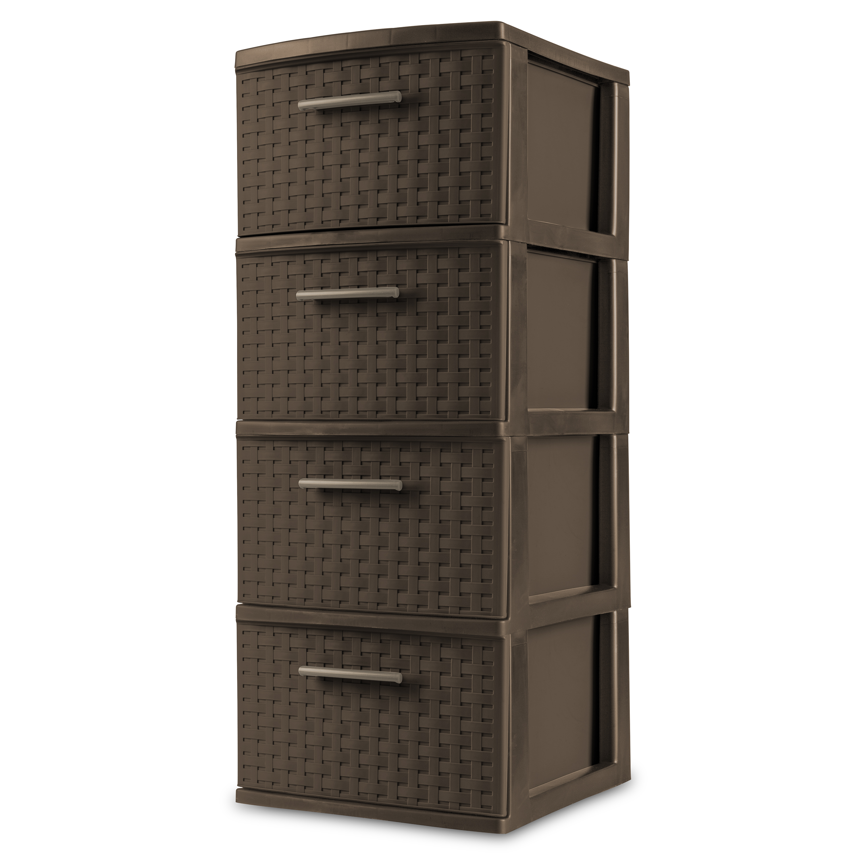 Sterilite 4 Drawer Weave Tower, Espresso