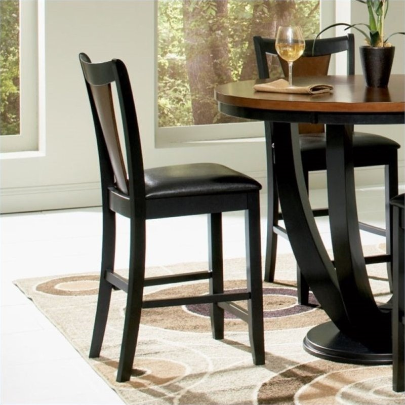 "Bowery Hill 24"" Counter Stool in Black and Cherry - image 2 of 3"