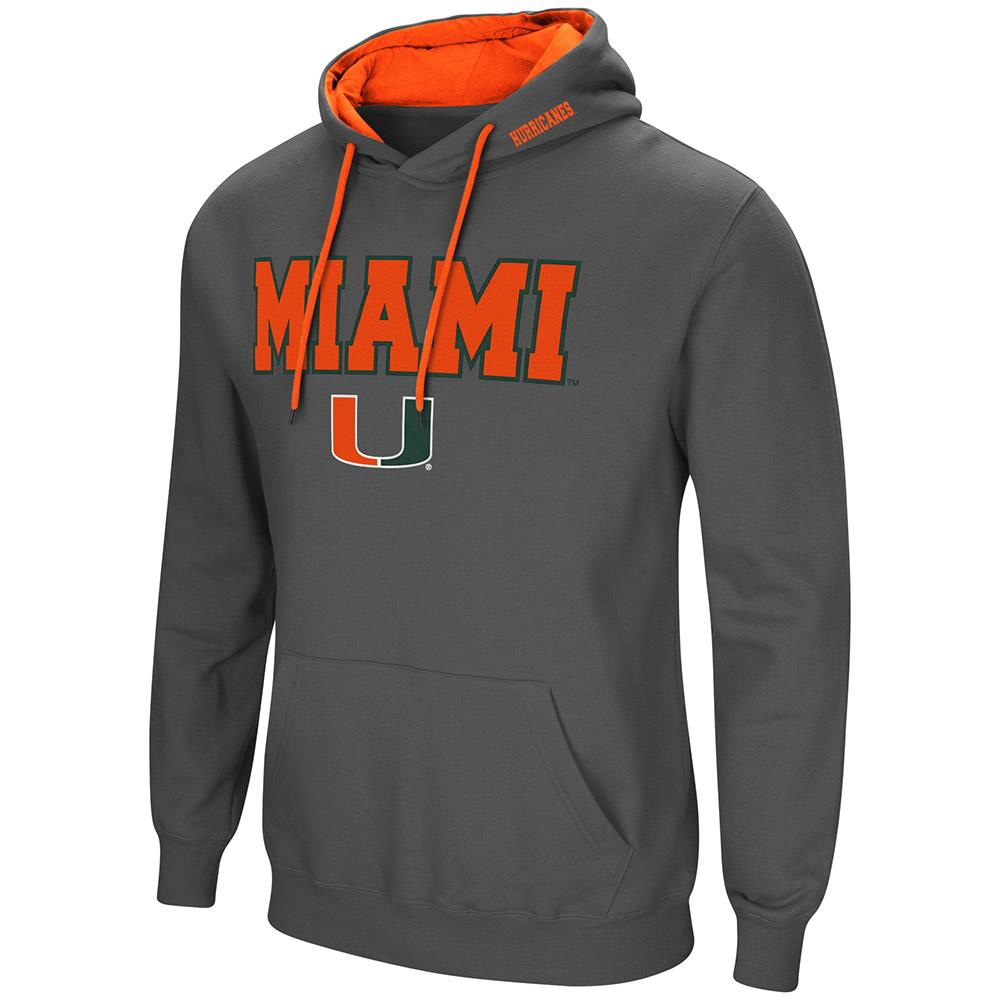 Mens Miami Hurricanes Pull-over Hoodie L by Colosseum