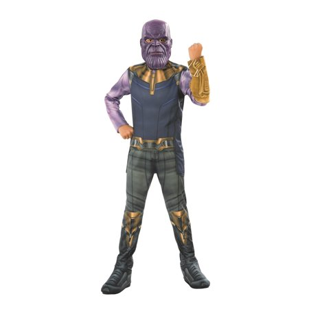 Marvel Avengers Infinity War Thanos Boys Halloween Costume](Revolutionary War Costumes For Men)