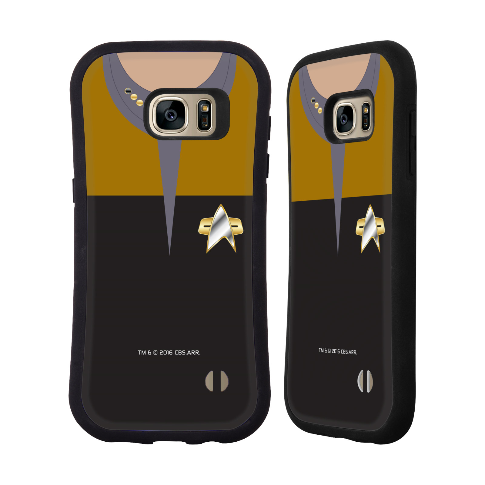 OFFICIAL STAR TREK UNIFORMS AND BADGES DS9 HYBRID CASE FOR SAMSUNG PHONES