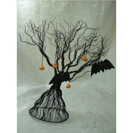 Transpac Imports Inc Metal Spooky Tree Bat Pumpkins Haunted Trick or Treat Halloween Decoration By Transpac Imports, Inc. Ship from US
