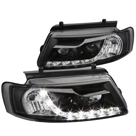 Spec D Tuning 1997 2000 Volkswagen Pat R8 Style Led Projector Headlights Black 1998 1999 Left Right