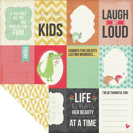 Hello Sunshine Double Sided Cardstock 12 X12  Tee Hee