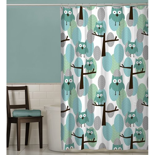 Owl Kitchen Decor Walmart: Maytex Owl Fabric Shower Curtain
