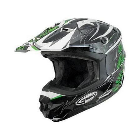 G-Max G076010 Visor for GM76X Player Graphic Helmet - Black/Green/White