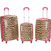 Rockland Luggage 3-Piece Hardside Polycarbonate/ABS Upright Luggage Set