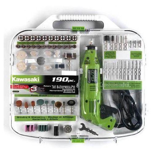 Kawasaki 840589 190 Piece Rotary Tool and Accessory Set