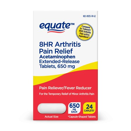 Equate 8HR Arthritis Pain Reliever, Acetaminophen 650mg,