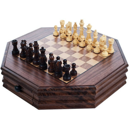 Trademark games octagonal chess and checkers set - Inexpensive chess sets ...