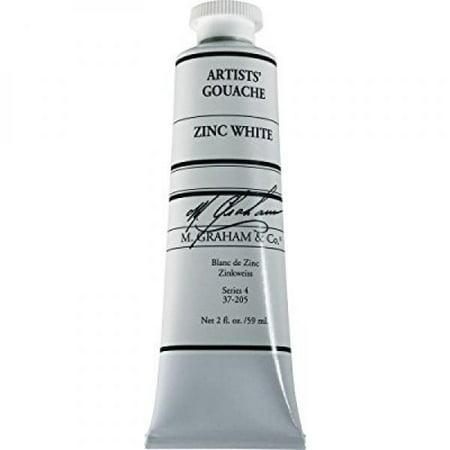 M. Graham 2-Ounce Tube Gouache Paint, Zinc - Paint 2 Ounce Light