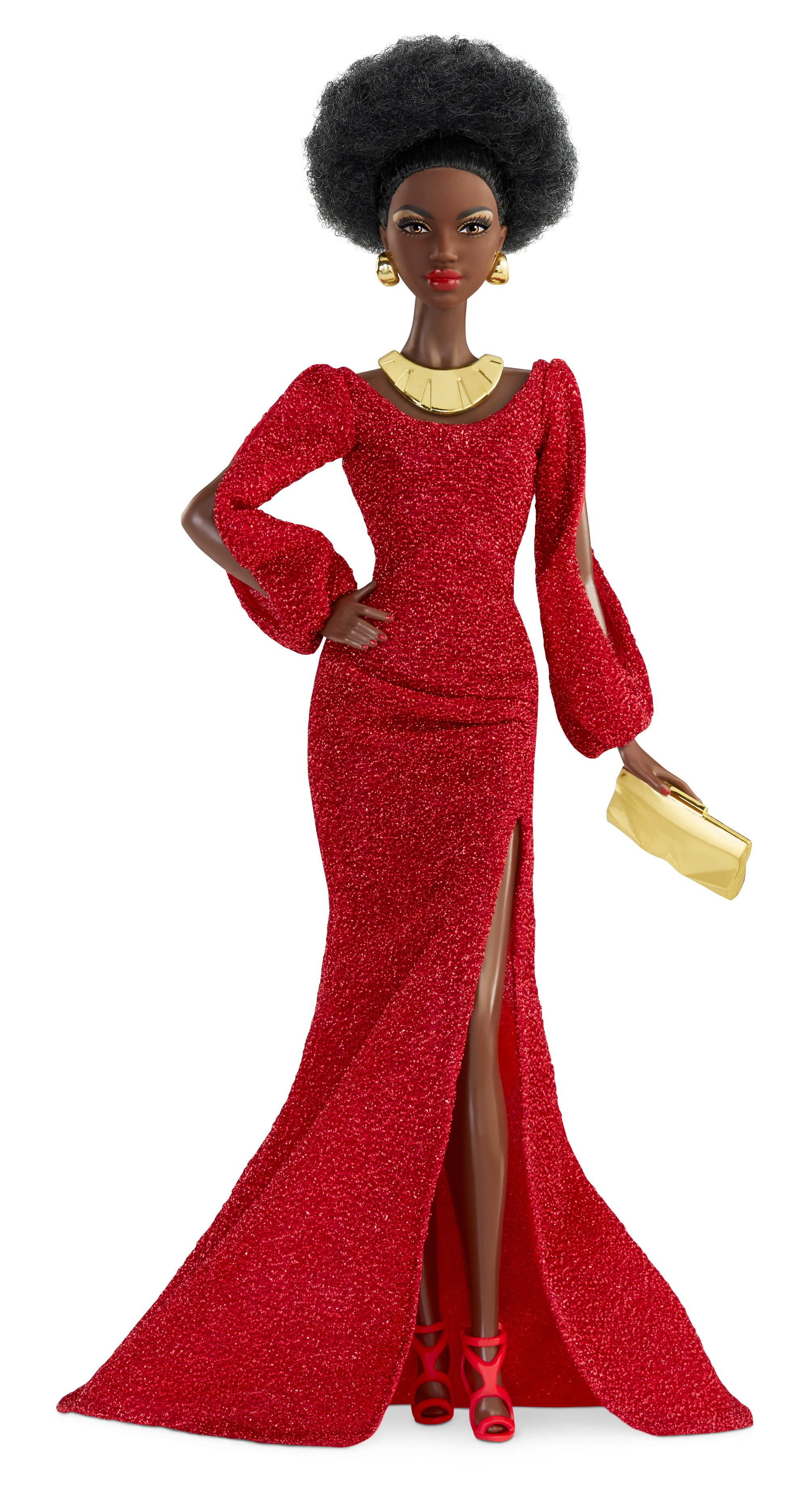 Barbie Signature 40th Anniversary First Black Barbie Doll in Red Gown with Doll Stand and Certificate of Authenticity - Walmart.com