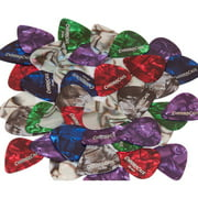 ChromaCast Pearl Celluloid Guitar Pick 50-Pack. Assorted Colors and Gauges