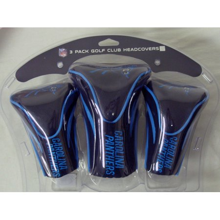Team Golf NFL Carolina Panthers 3 Pack Contour Head Covers - Carolina Panthers Golf Bag