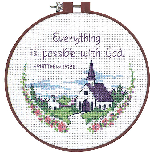 """Dimensions Learn-A-Craft """"Everything Is Possible"""" Counted Cross Stitch Kit, 6"""""""