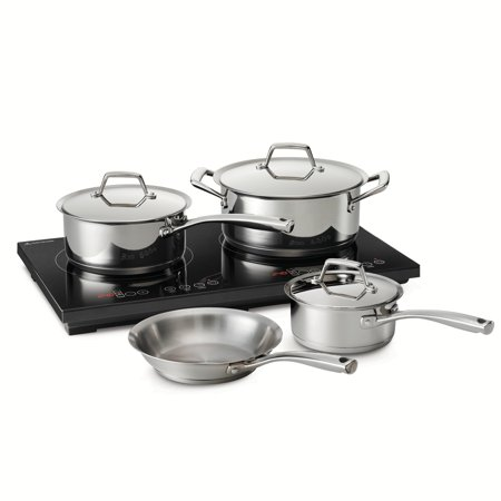 Black Deluxe Cooking System (Tramontina 8 Pc Double-Hot Induction Cooking System)
