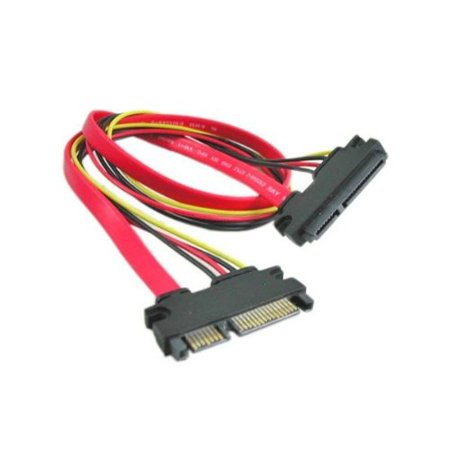22-pin (7+15) SATA Male to Female DATA and Power Combo Extension Cable (20 -