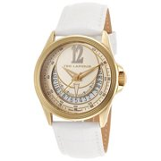 Women's White Genuine Leather Gold-Tone Dial Watch TLAPIDUS-643-A0512PTIFSM