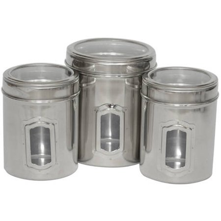 - Set of 3 Different Sizes of Canister with See Through Lids