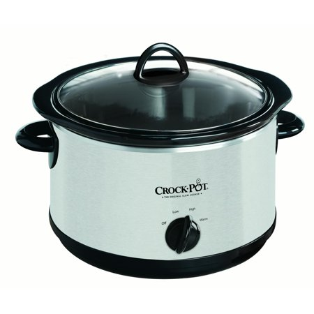 Crock-Pot The Original Slow Cooker, 5-Quart, Stainless Steel (SCR500-SP)