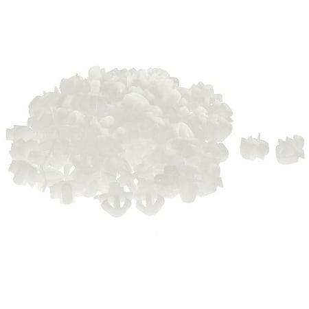 (Unique Bargains 100 Pcs White Plastic Door Seal Nail Rivet Trim Mat Clip for Buick)