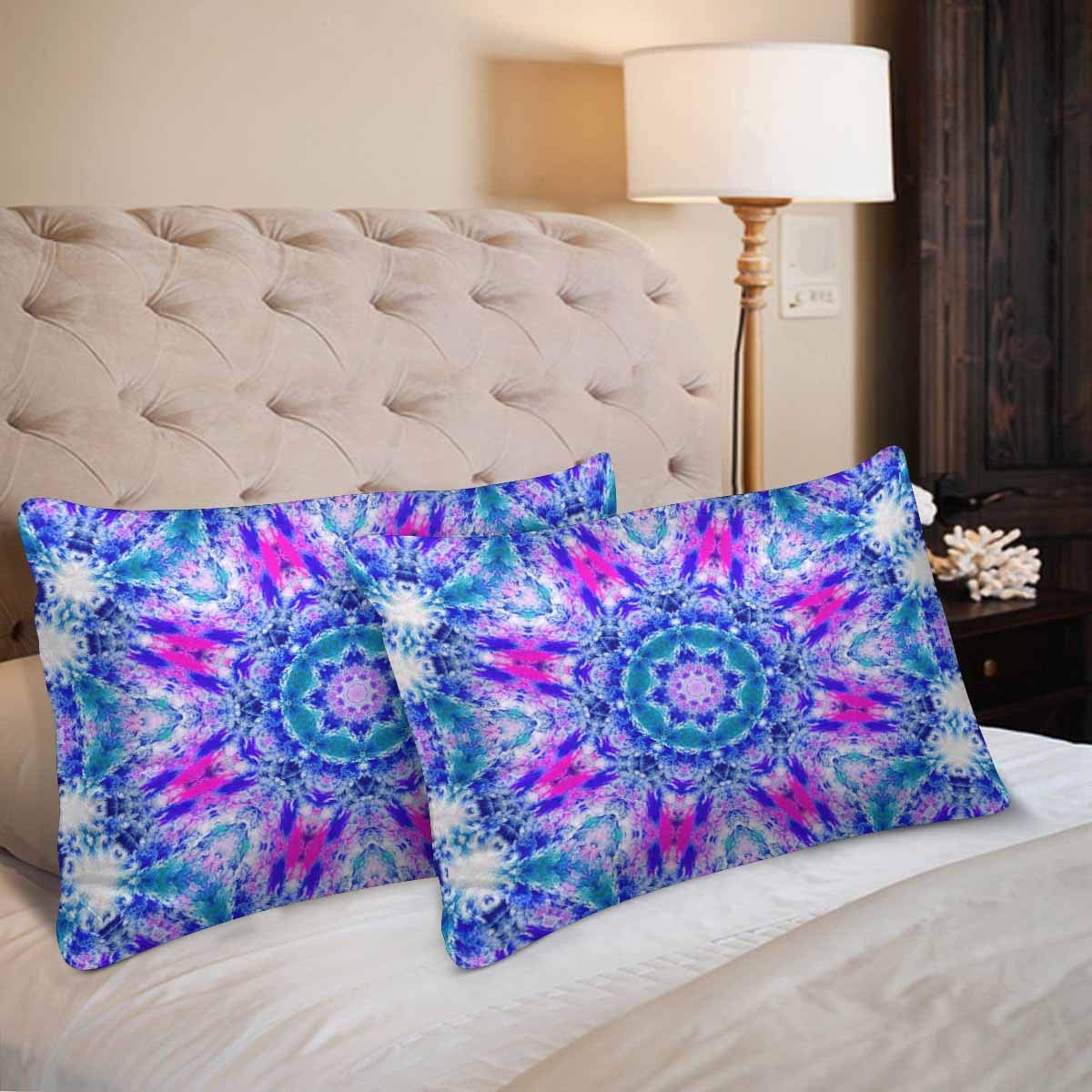 GCKG Abstract Floral Colorful Tie Dye Pillow Cases Pillowcase 20x30 inches Set of 2 Pillow Covers Protector - image 1 of 4
