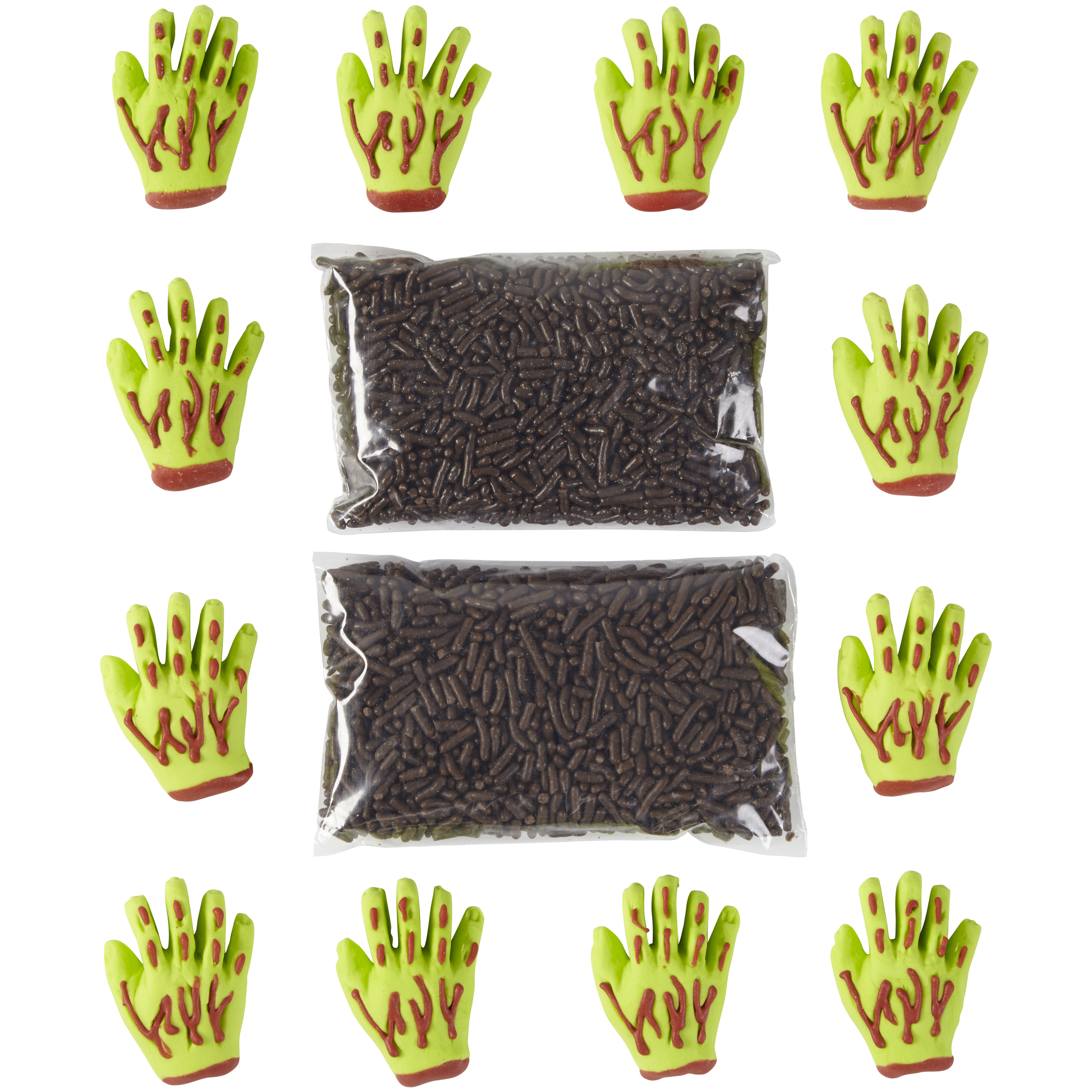 Wilton Candy Told Zombie Hand 6set