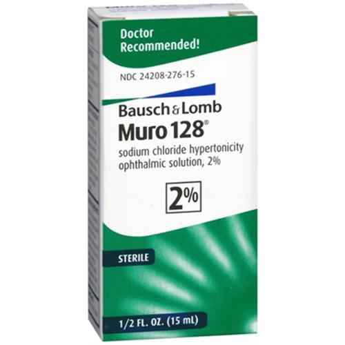 Muro 128 2% Sterile Ophthalmic Eye Solution - 0.5 Oz (15 Ml)