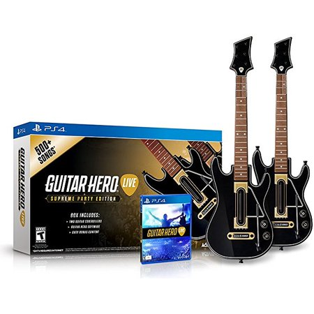 Guitar Hero Live Supreme Party Edition 2 Pack Bundle - PlayStation 4 (PRE-OWNED) - This Is Halloween Guitar Hero 3