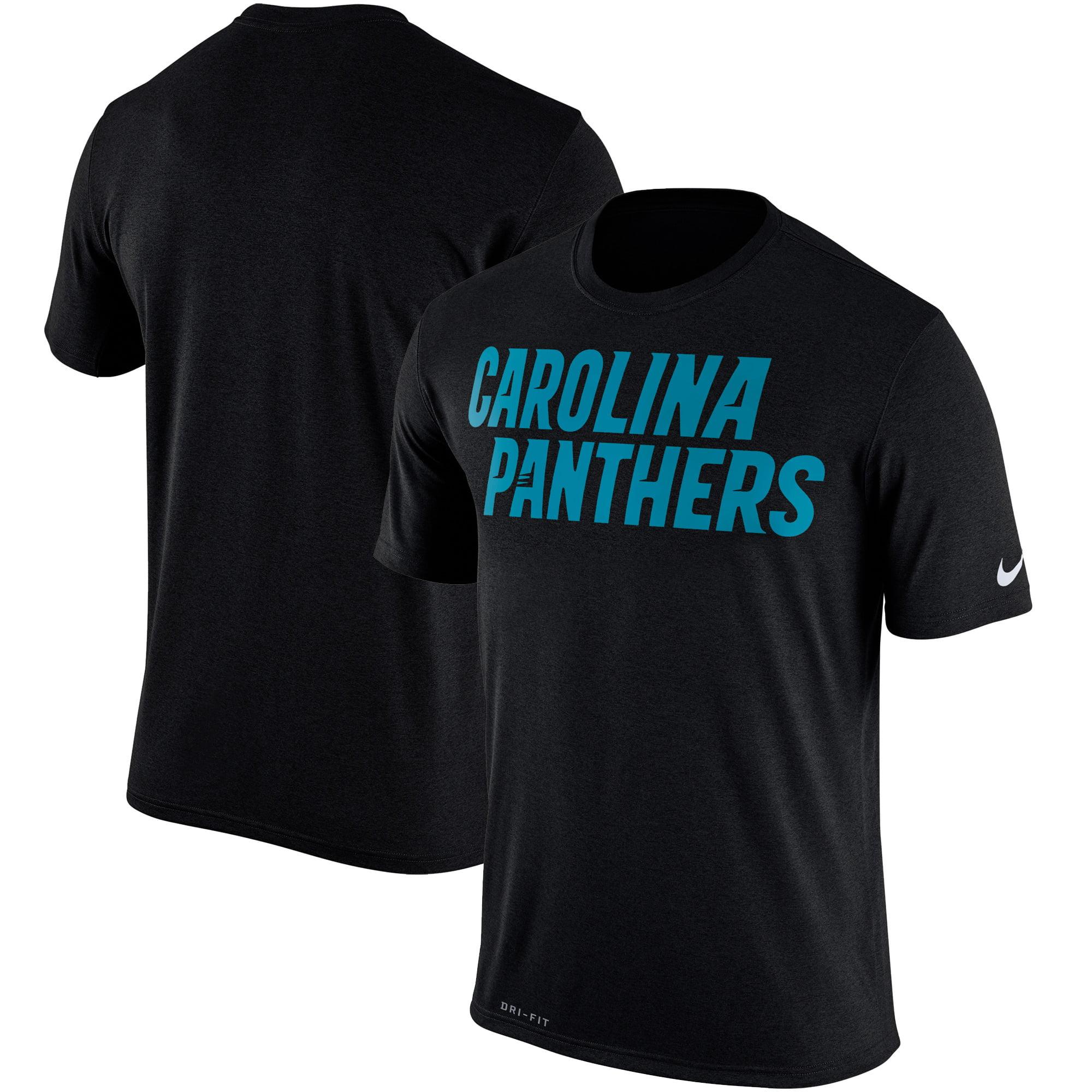 Carolina Panthers Nike Legend Wordmark Essential 3 Performance T-Shirt - Black