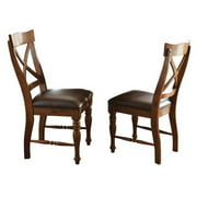 Steve Silver Company Wyndham Dining Chair in Distressed Tobacco (set of 2)