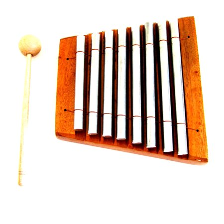 Energy Chime Set - Meditation Chime Energy Chime Wood Percussion Chakra Chime, 8 Bars, Xylophone - PROFESSIONAL SOUND- JIVE BRAND