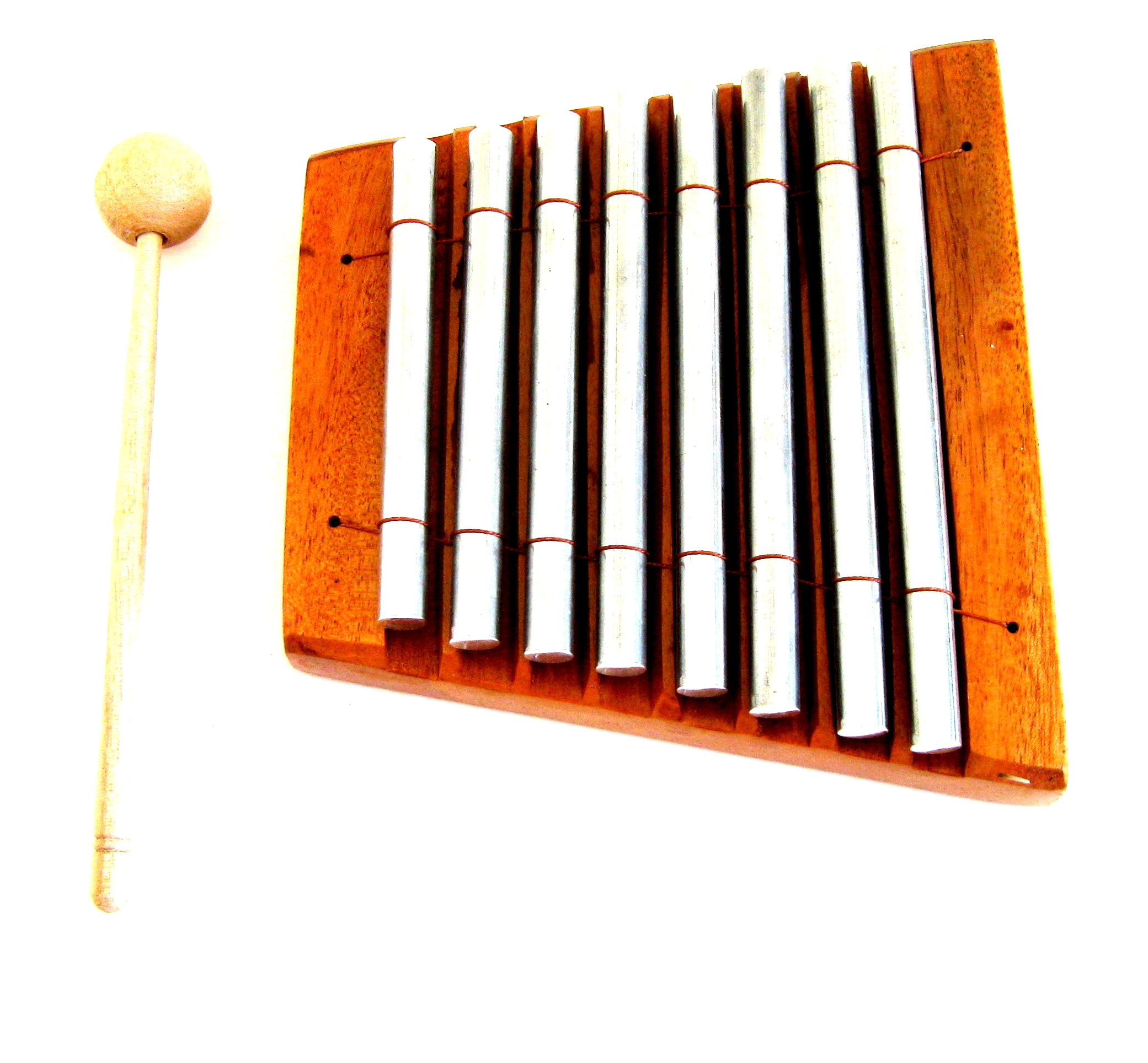 Meditation Chime Energy Chime Wood Percussion Chakra Chime, 8 Bars, Xylophone - PROFESSIONAL SOUND- JIVE BRAND