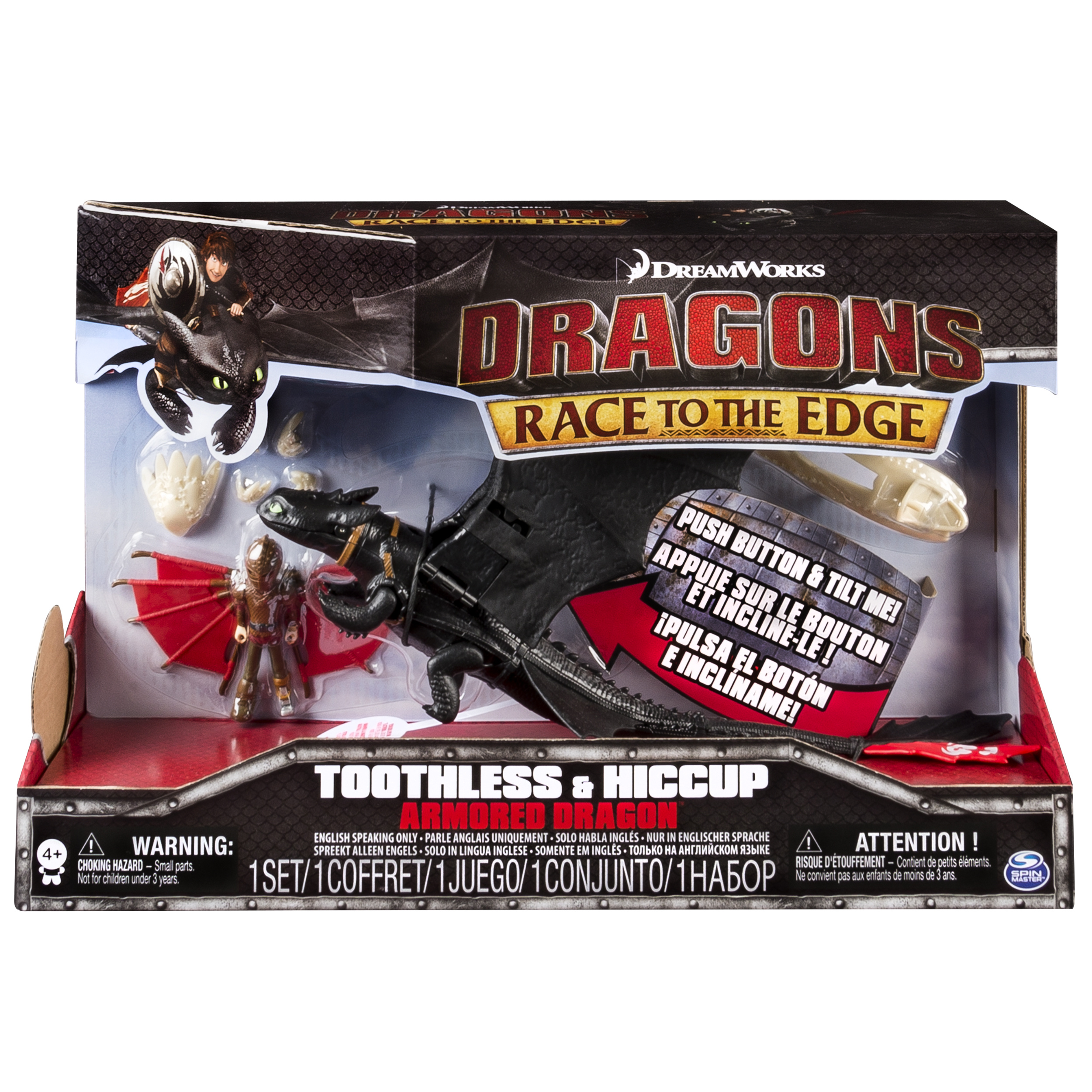 Dragons: Race To The Edge  Toothless & Hiccup Armored Dragon  Walmart
