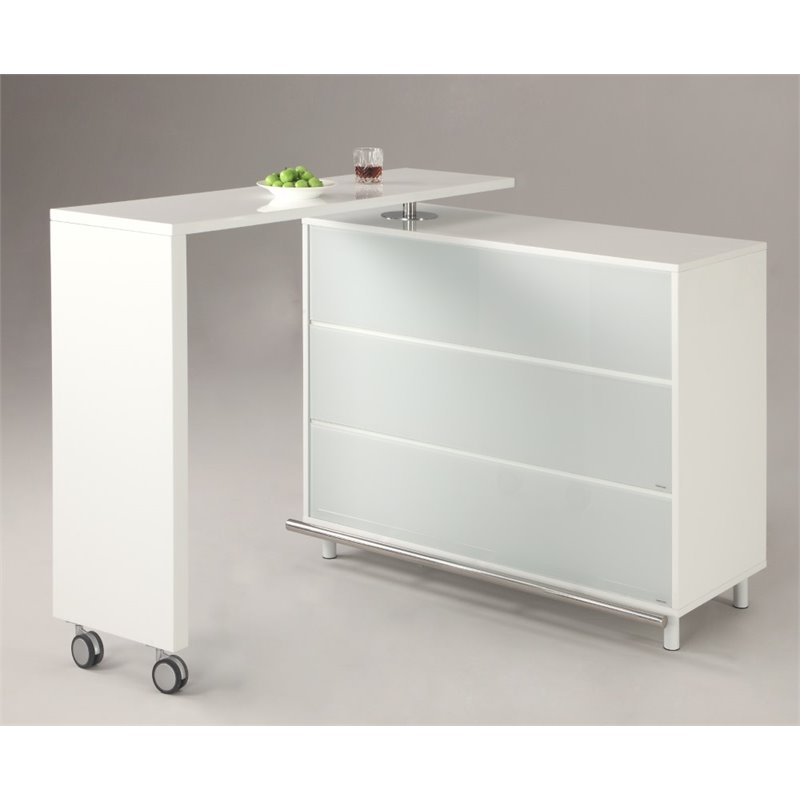 Chintaly Imports Barclay Home Bar in White