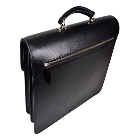 Genuine Safin Leather Luxury Double Gusset Briefcase