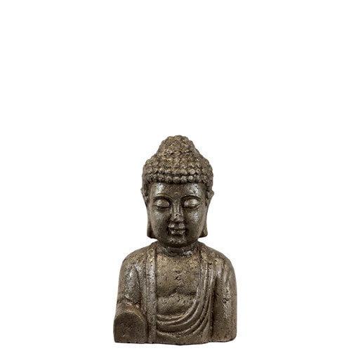 Urban Trends Ceramic Buddha Bust SM Metallic Gold