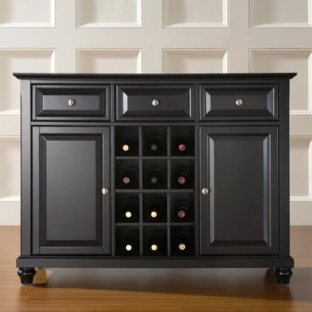 Crosley Furniture Cambridge Buffet Server and Sideboard Cabinet with Wine Storage ()
